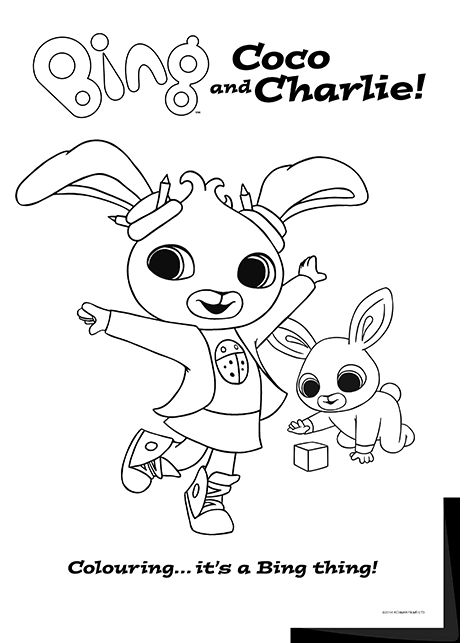 Bing Lineart Coco Charlie Kids ColouringColouring SheetsBing BunnyBunny PartyBaby