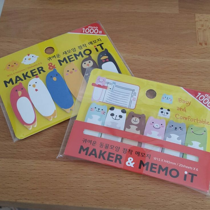 Memo maker, sticky tabs from korea