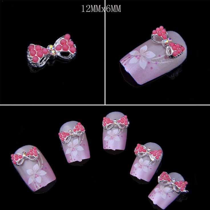 Catalina Professional Production 3D Alloy Bow Tie Nail Art Glitter Rhinestone DIY Decoration (N) -- This is an Amazon Affiliate link. You can get more details by clicking on the image.