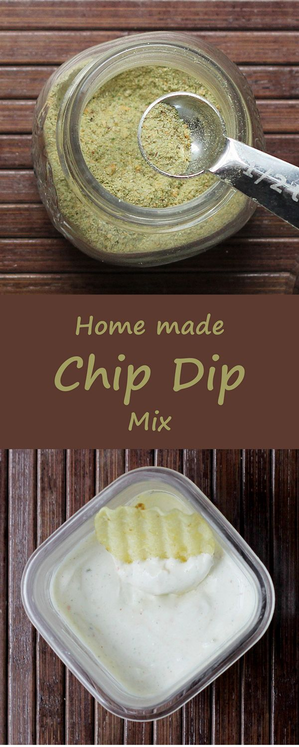 Make your own chip dip mix so you never have to buy a packet again.