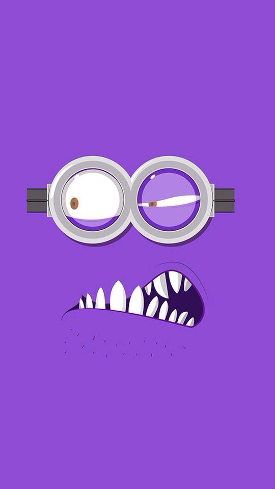 iPhone Wallpaper - Purple Minion tjn                                                                                                                                                      Más