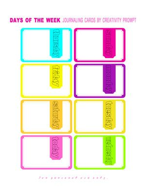 ACQUIRED  #freeprintable   Free Printable | Days Of The Week | The Neon Edition || by Creativity Prompt