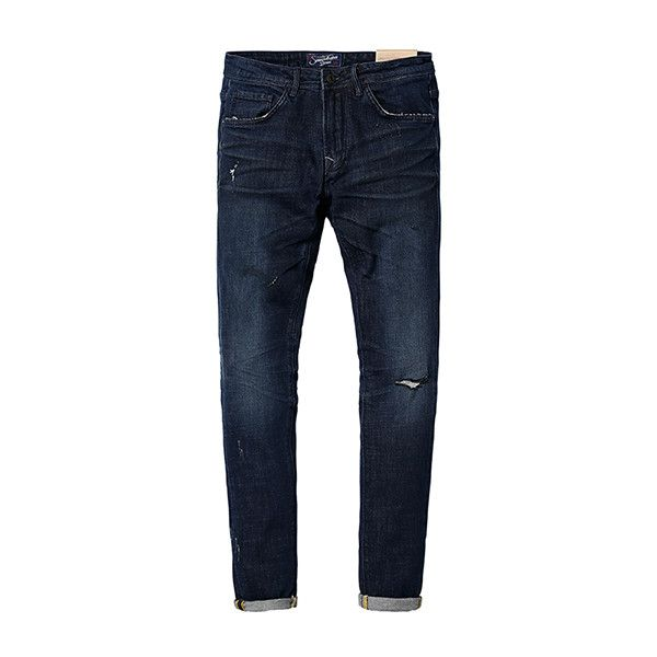 New Autumn Winter Jeans Men Fashion Denim Pants Casual Trousers Length