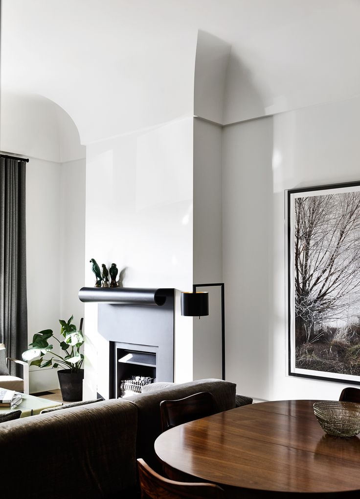 Formal living/dining room from Victorian home renovation by B.E Architecture. Photography: Derek Swalwell | Styling: Julia Green | Story: Australian House & Garden
