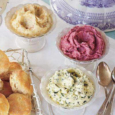 Walnut-Honey Butter, Blackberry Butter, Lemon-Herb Butter Recipes.