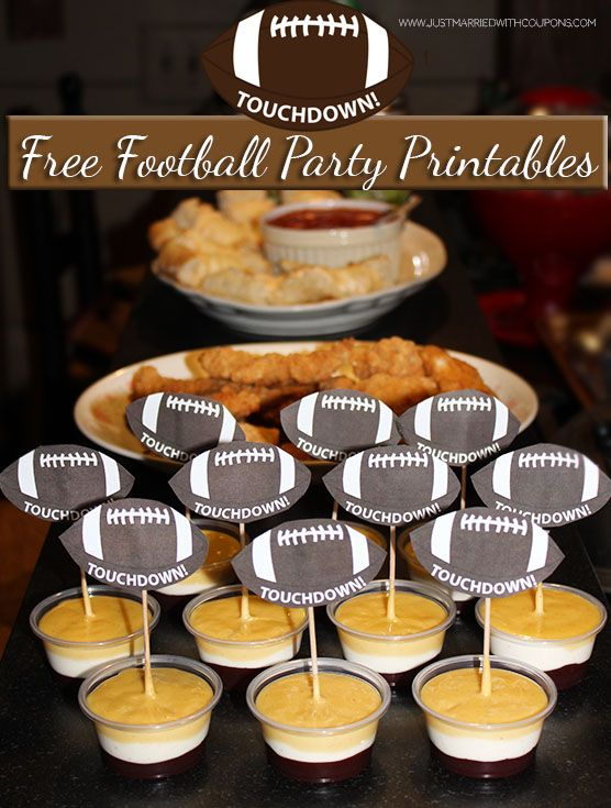 Football Party Printables ~ Tailgating Recipes ~ Football Party ~ Super Bowl ~ Game Day Food & Snacks