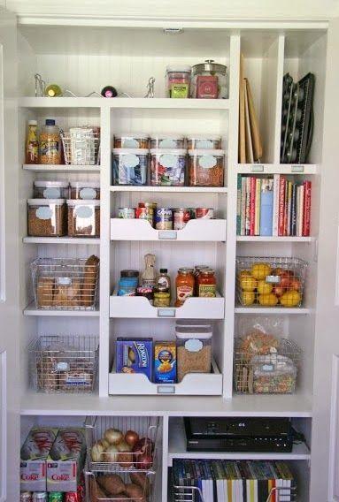 17 melhores ideias sobre armazenamento em despensa no - Armarios para despensa ...