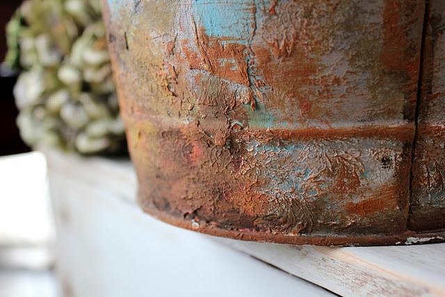 faux rust paint technique