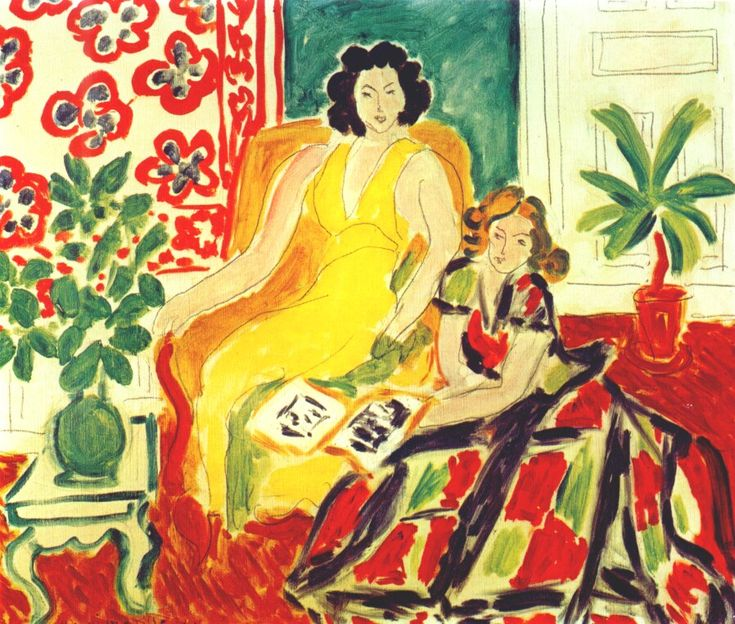The Yellow and Plaid Dresses by Henri Matisse, 1941