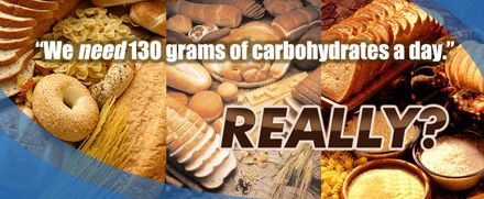 If you are a diabetic and have been told you HAD TO have 130g of carbs per day...ever wonder where that number came from?