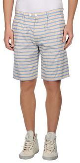 $38, Beige Horizontal Striped Shorts: Camo Bermudas. Sold by yoox.com. Click for more info: https://lookastic.com/men/shop_items/262944/redirect