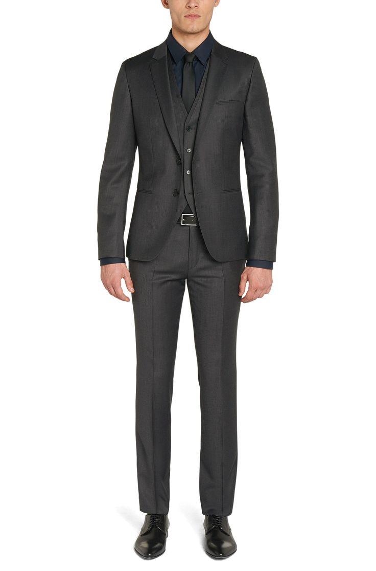 Slim fit suit in new wool: 'Awald/Wins/Heibo3'