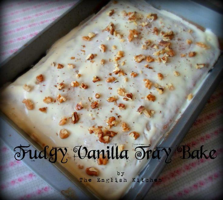 Fudgy Vanilla Tray Bake