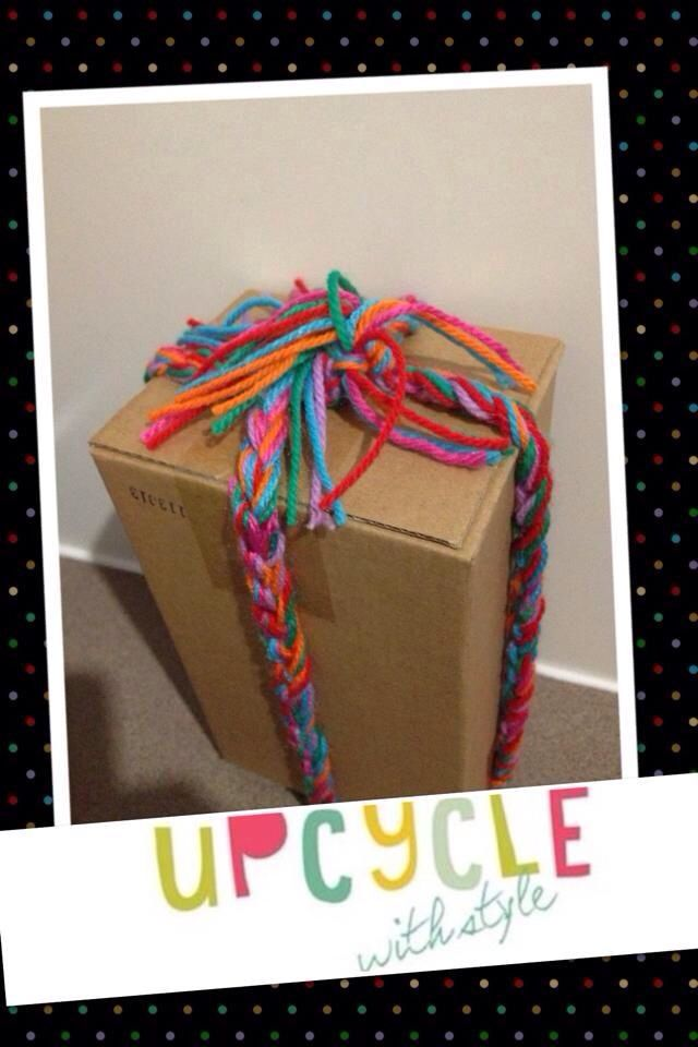 Upcycled gift wrapping with a free box from Bunnings  www.upcyclewithstyle.com.au
