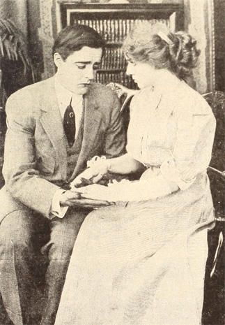 """Florence Lawrence and Harry Myers in """"Vanity and Its Cure"""" (1911)."""