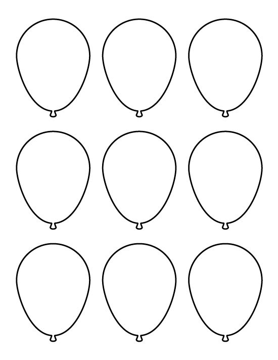 Small balloon pattern. Use the printable pattern for crafts, creating stencils, scrapbooking, and more. Free PDF template to download and print at http://patternuniverse.com/download/small-balloon-pattern/.
