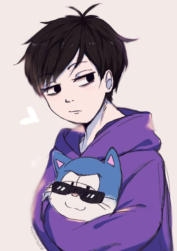 Ichimatsu with a... cat? || 062616 by Ayachiichan on DeviantArt