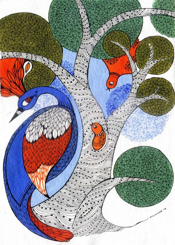 Gond art, of India