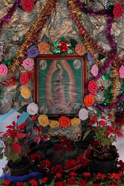 Decoracion De Altar De Virgen De Urkupi?a ~ my grandmother had several Mary shrines )