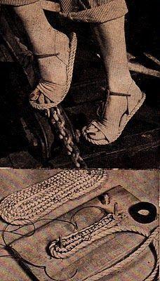 Rope sandals tutorial Me encantó! parecen alpargatas españolas...