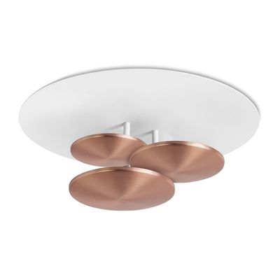 LIVING: Disc LED Flush Ceiling Light in Copper/ Height 172 mm, Width 450 mm// 455£