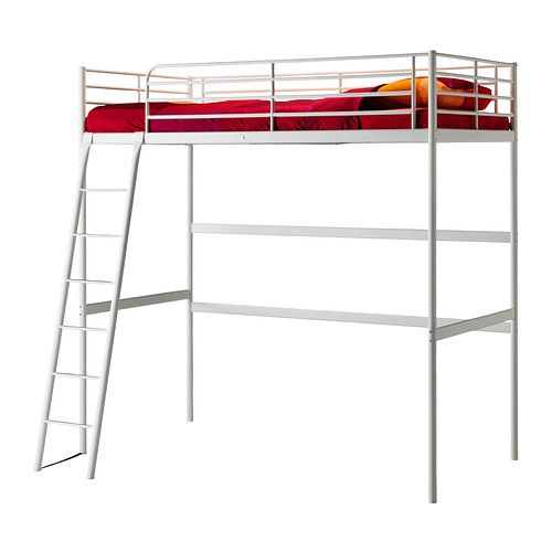 TROMSÖ Loft bed frame IKEA The ladder mounts on the right or the left side of the bed.