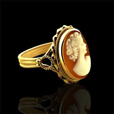 Vintage Cameo Ring 14K