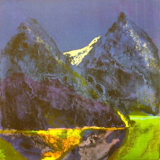 Eva Langaas - det våres i Blåfjell   Artgate.no - original norsk kunst