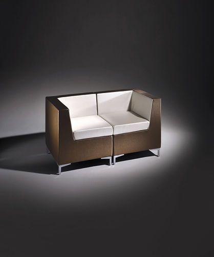 Sofá moderno / de interior / de cuero / de uso profesional ANGLE Salon Ambience