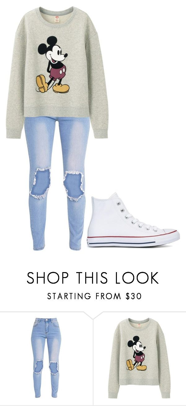 """Untitled #268"" by cruciangyul on Polyvore featuring Uniqlo and Converse"