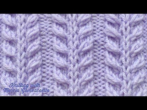 TEJIDO A DOS AGUJAS: 54- Espigas / MALHAS COM DUAS AGULHAS: Sprig Stitch - YouT ...