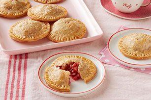 Tartelettes aux fraises et à la rhubarbe