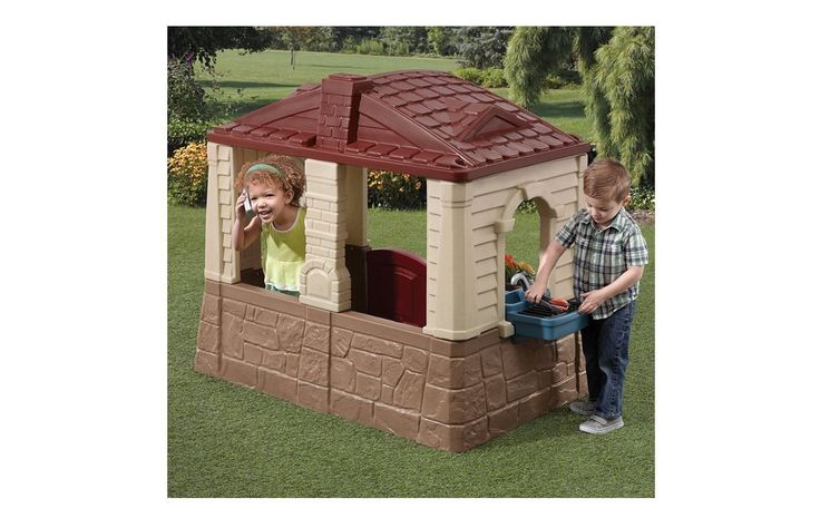 Step2 Childs Cottage Indoor Outdoor Playhouses Toddlers Year Round Play Backyard | eBay