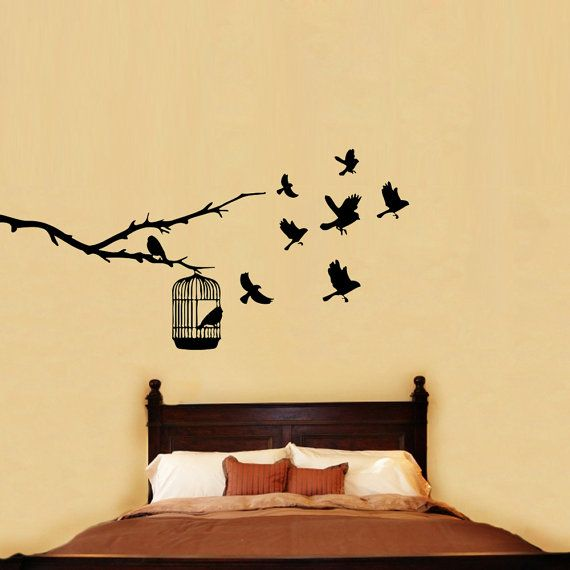 13 best Bird in Cage images on Pinterest | Wall decal, Wall decals ...