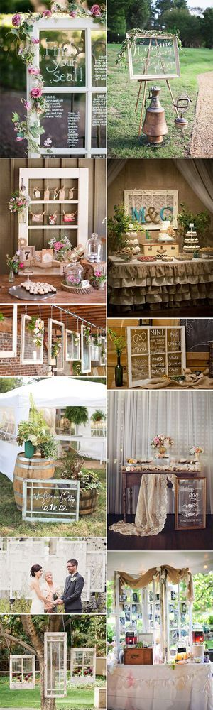 Marcos de ventana antiguos – 10 ideas para decorar bodas | Blog con ideas originales para organizar tu boda. | Bloglovin'