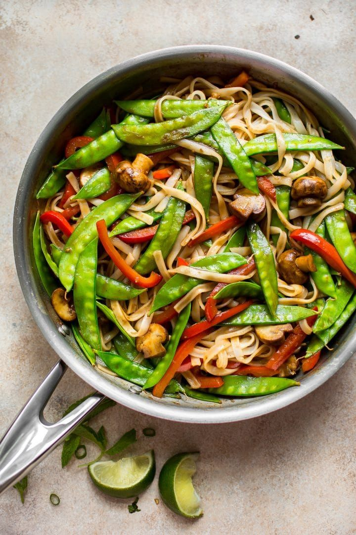 Vegan Rice Noodles Recipe Vegan Noodles Recipes Vegetarian Recipes Easy Vegetarian Recipes