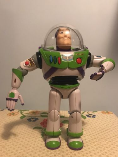 Disney Pixar Buzz Lightyear Thinkaway Toys Tall Action Figure Talking Toy Story