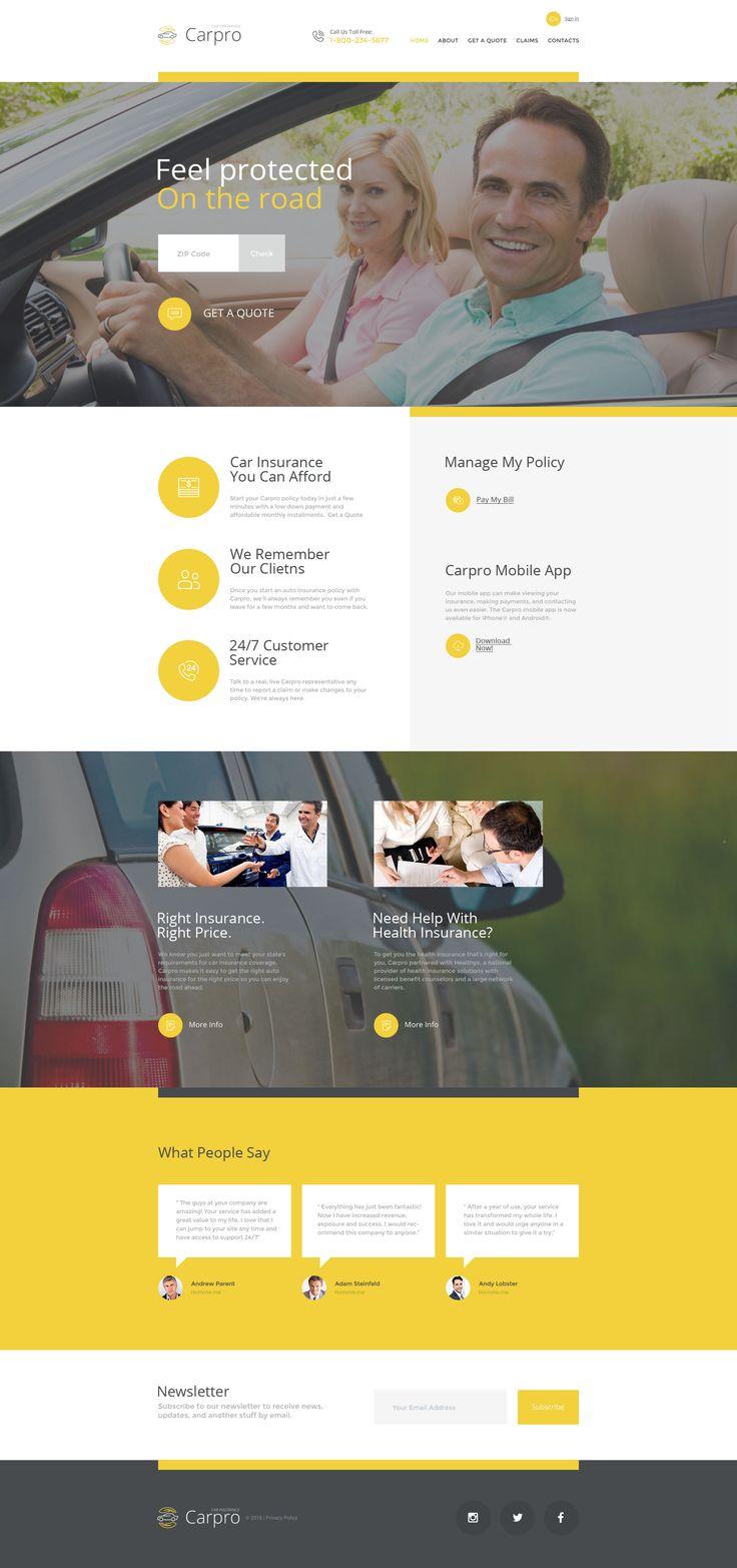 Car Insurance Website Template http://www.templatemonster.com/website-templates/carpro-website-template-57795.html