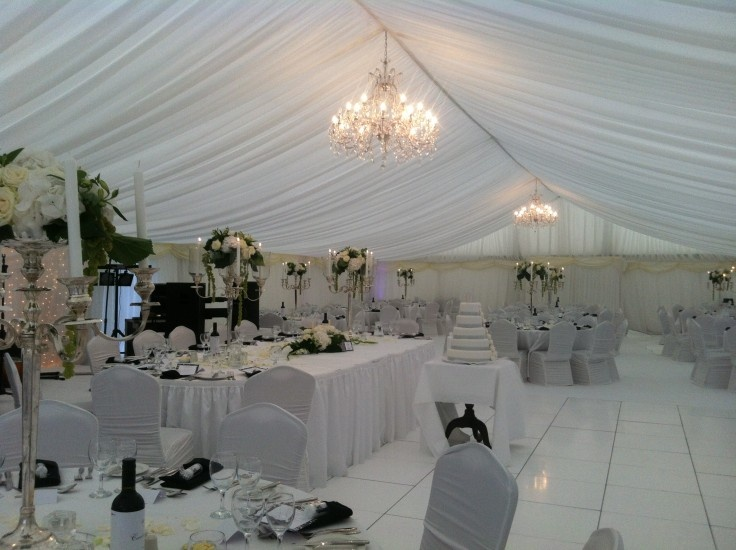 Floral centrepieces as main feature with these Candelabras