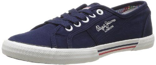 Pepe Jeans London ABERLADY, Damen Sneakers, Blau (585MARINE), 38 EU - http://on-line-kaufen.de/pepe-jeans/38-eu-pepe-jeans-london-aberlady-damen-sneakers