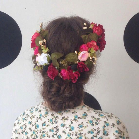 25 Best Ideas About Red Flower Crown On Pinterest