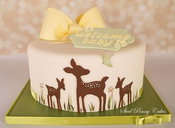 Deer Baby Shower Cake cakepins.com