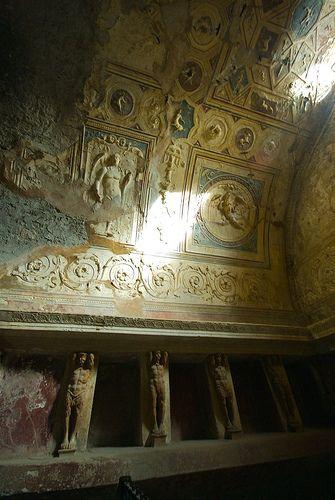 Bath House in Pompeii, Italy