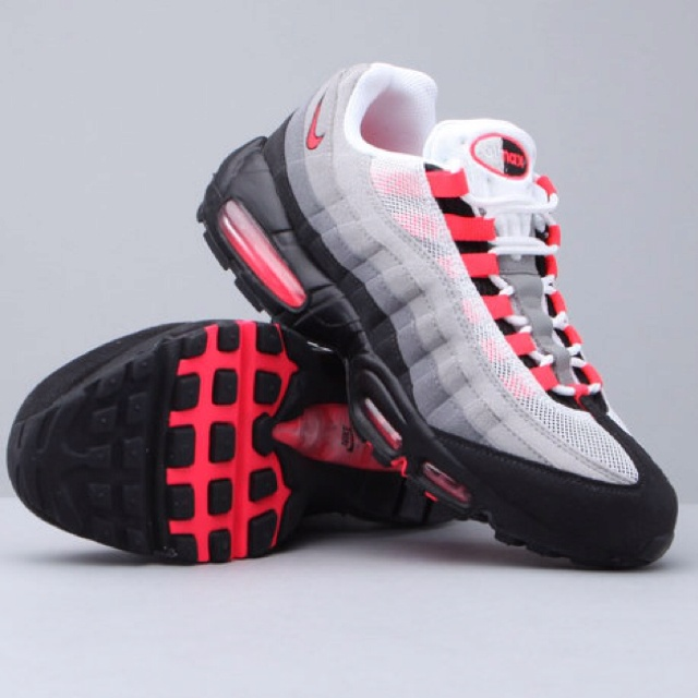 Air Max 95 Grey/Solar Red I wore this pair down to the ground.