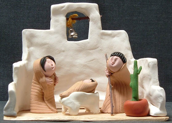polymer clay nativity
