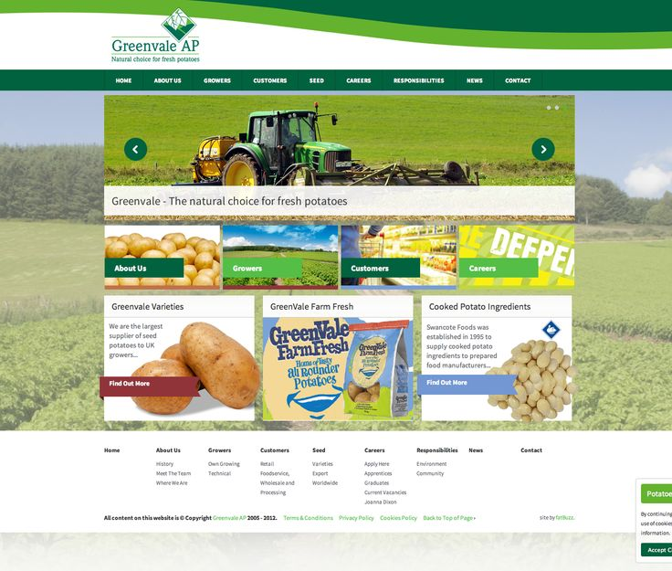 fatBuzz created this site for potato processors, Greenvale AP plc http://www.greenvale.co.uk/