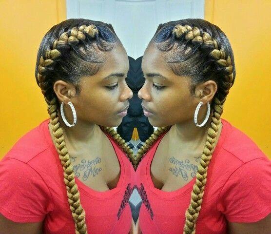 2 simple underbraids hair styles Pinterest Hair - Hairstyles For Braids