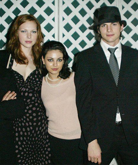 Laura Prepon, Mila Kunis and Ashton Kutcher during their That'70s Show days.