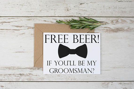 Funny Groomsman Proposal Card Template // Adult Humor // Free