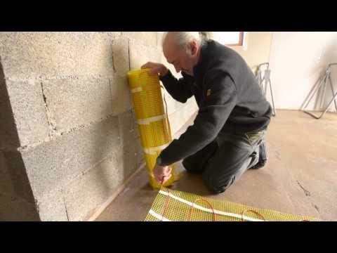 Plancher rayonnant électrique sous carrelage - Bricolage avec Robert - YouTube